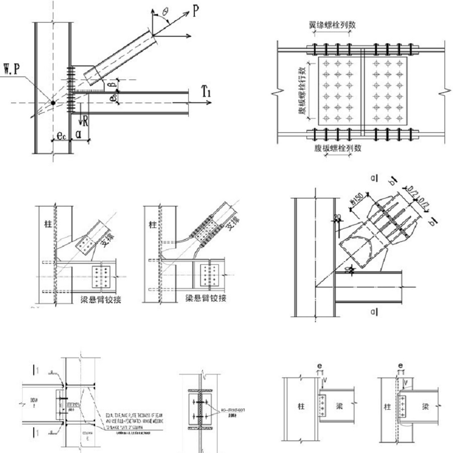 Steel structure joint design